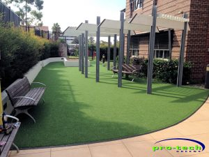 Moroba Aged Care Newcastle - fake grass installation