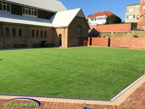 Newcastle Grammar School - synthetic grass installation