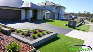 Synthetic Lawn - Newcastle home installation